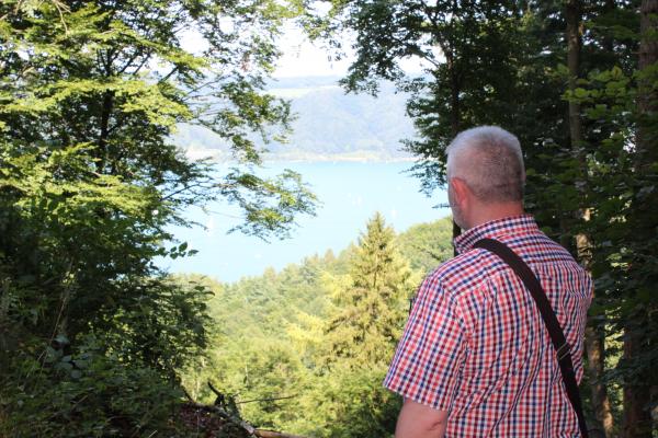 Bodensee Aussicht von Burgruine Altbodman